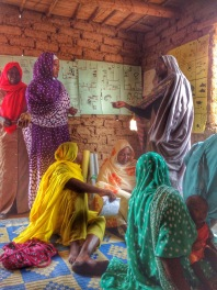 Jebel Aulia Literacy Circle -discussing disease prevention campaigns